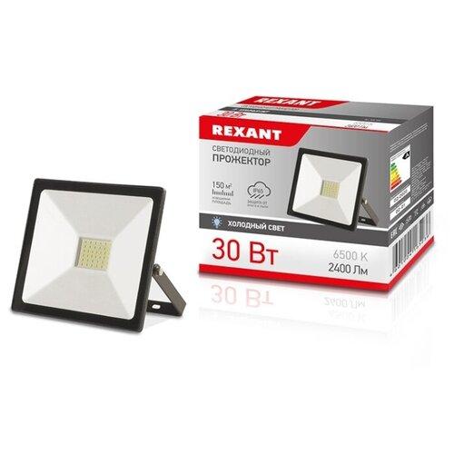 Прожектор светодиодный REXANT 30 Вт IP65 2400 лм 6500 K холодный свет