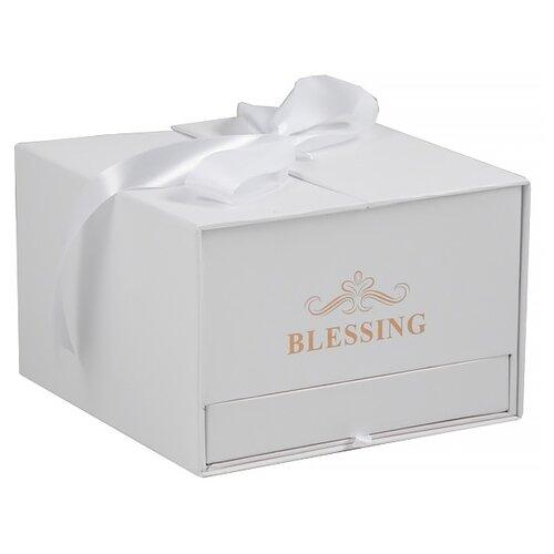 Коробка подарочная Yiwu Zhousima Crafts Blessing 18 х 12 х 18 см белый
