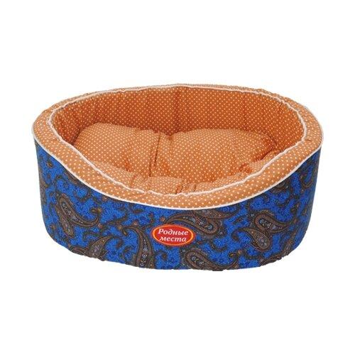 Лежак для собак и кошек Родные места Премиум №1 Огурцы 43х38х15 см синие