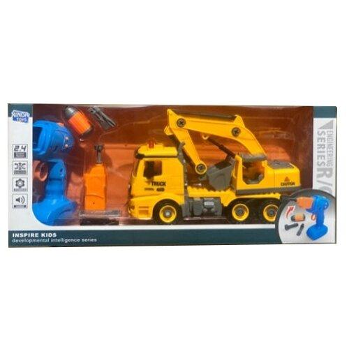 Купить Винтовой конструктор Xinda Toys Engineering R/C BS-R4 Автокран, Конструкторы