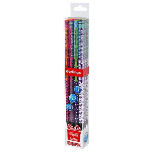 Купить Berlingo Набор чернографитных карандашей 4 дизайна Arcade XS 12 шт (BP01105_12), Карандаши