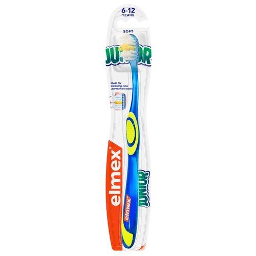 Зубная щетка Elmex Юниор от 6 до 12 лет, синий, Гигиена полости рта  - купить со скидкой