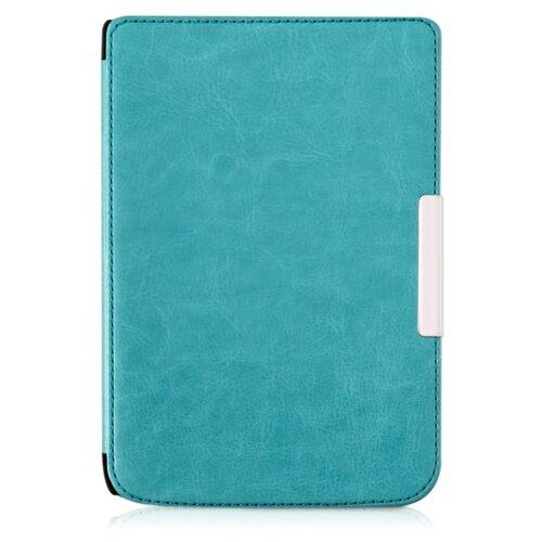 Чехол-обложка футляр MyPads для PocketBook 626 Plus Touch Lux 3 из качественной эко-кожи тонкий с магнитной застежкой голубой