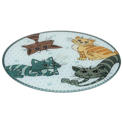 Фото - Тортовница вращающаяся озорные коты диаметр 32 см высота 3 см Agness (357-156) тортовница agness вращающаяся озорные коты d 32 см h 3 см 357 156