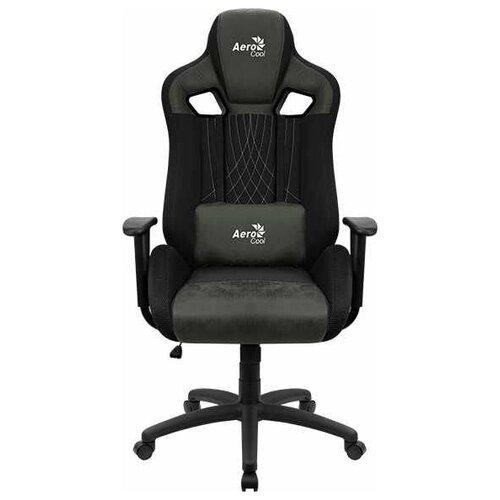 Компьютерное кресло AeroCool Earl игровое, обивка: текстиль/искусственная кожа, цвет: Hunter Green
