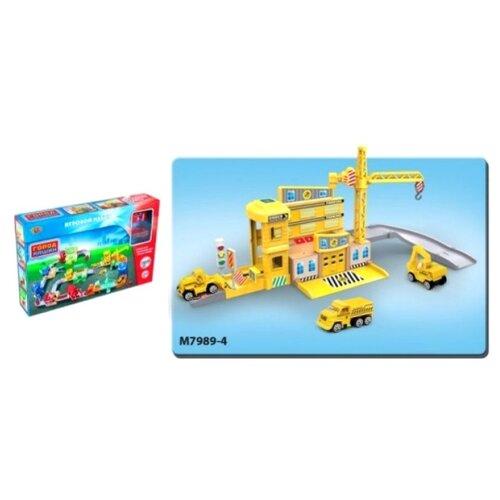 Купить Yako Стройплощадка M7989-4 желтый/серый, Детские парковки и гаражи