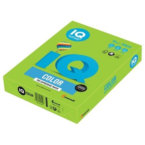 Фото - Бумага цветная IQ А4, 80 г, зеленая липа, пачка 500 листов запарник для бани липа 12 л