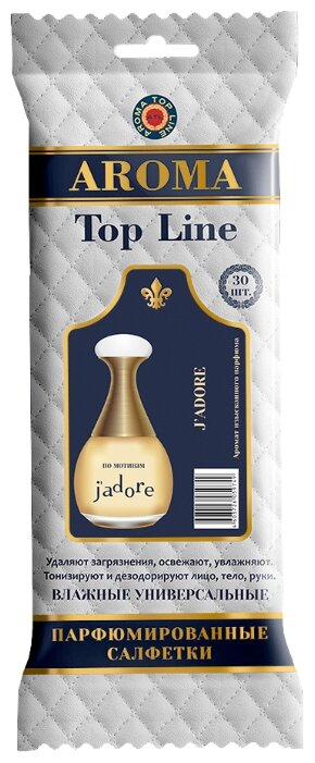 Салфетки влажные парфюмированные Top Line №6 по мотивам J'Adore