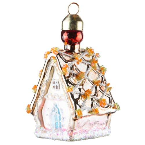 Набор елочных игрушек KARLSBACH Домик 08602, розовый