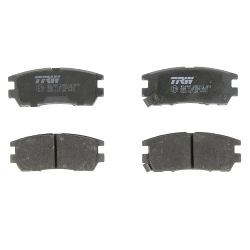 Дисковые тормозные колодки задние TRW GDB1127 для Mitsubishi Sigma, Mitsubishi Pajero, Mitsubishi L200 (4 шт.) фото