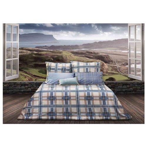 Постельное белье 1.5-спальное Sova & Javoronok Герой Шотландии 70х70 см, перкаль синий постельное белье 1 5 спальное sova