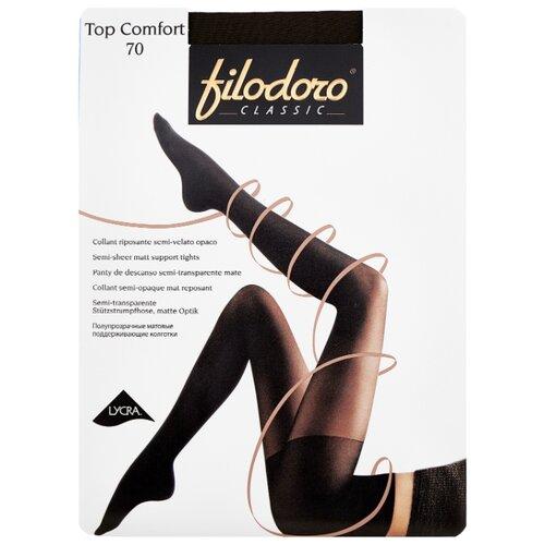 Фото - Колготки Filodoro Classic Top Comfort, 70 den, размер 4-L, Mineral (серый) колготки filodoro classic top comfort 70 den размер 5 xl mineral серый