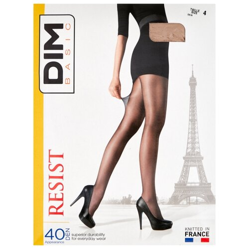 цена Колготки DIM Basic Resist 40 den, размер 4, телесный (бежевый) онлайн в 2017 году