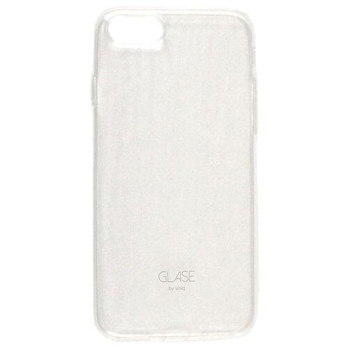 Чехол-накладка Uniq Glase для Apple iPhone 7/iPhone 8 прозрачный чехол with love moscow w003594app для apple iphone 7 iphone 8 прозрачный