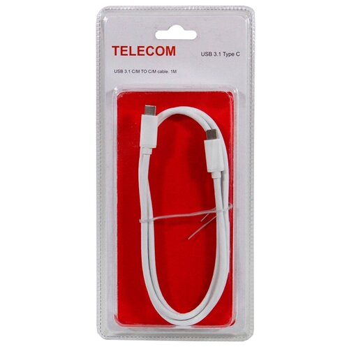 Кабель Telecom USB - USB Type-C (TC400B) 1 м белый кабель usb type c microusb a data acm32in1 100cmk cbk 1 м