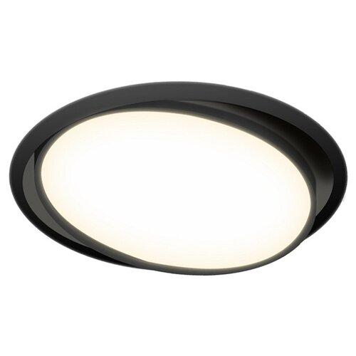 Встраиваемый светильник Donolux DL18813/15W Black R встраиваемый светильник donolux dl132g shampagne gold