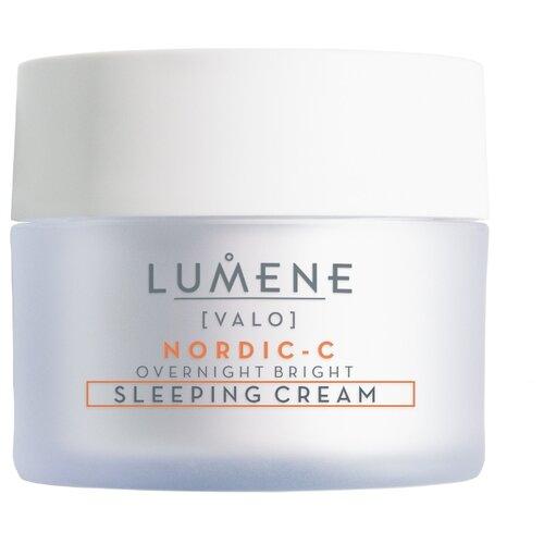 Lumene Valo Nordic-C Overnight Bright Sleeping Cream Contains Vitamin C Восстанавливающий крем-сон для лица, 50 мл набор lumene nordic c valo