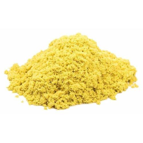 Купить Кинетический песок Космический песок базовый, желтый, 1 кг, пластиковый контейнер