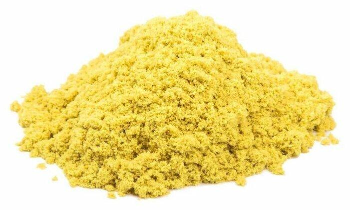 Кинетический песок Космический песок базовый, желтый, 0.5 кг, пластиковый контейнер