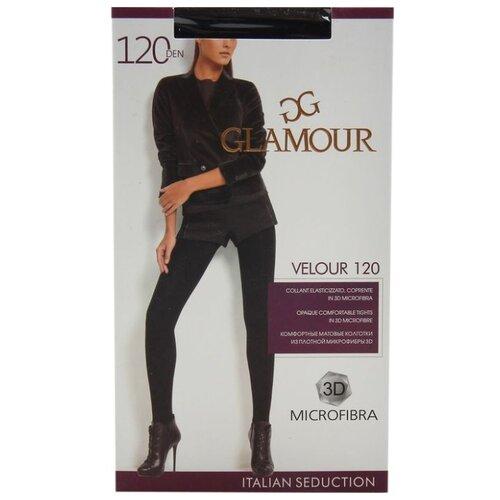Колготки Glamour Velour 120 den, размер 5-XL, nero (черный) колготки glamour betulla 20 den размер 5 xl nero черный