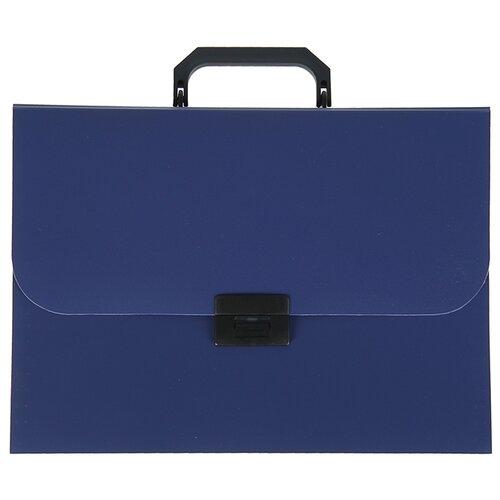 Calligrata Папка-портфель, А4, 7 отделений синий папка портфель без отделений а4 серебряная с черным клапаном