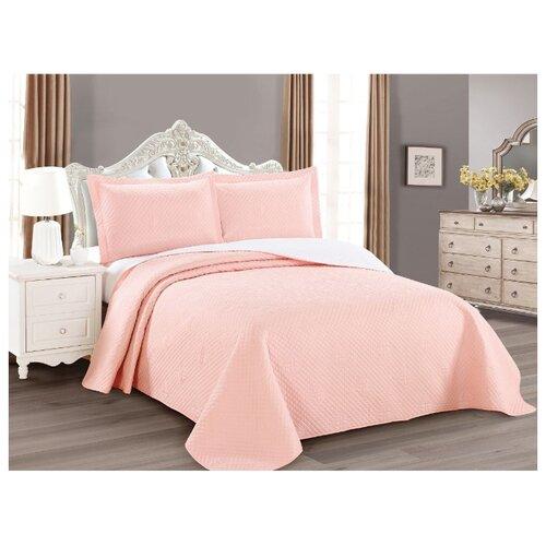 Комплект с покрывалом Cleo Luna 240х260 см, розовый комплект с покрывалом cleo versailles 240х260 см коричневый