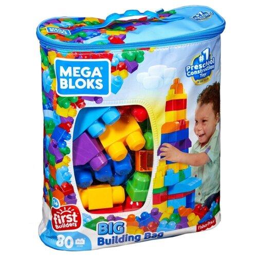 Конструктор Mega Bloks First Builders DCH63 Большая сумка строителя конструктор строй и учись mega bloks dxh33