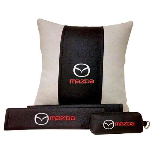 67604 Подарочный набор с логотипом MAZDA, подушка в салон, накладки и ключница