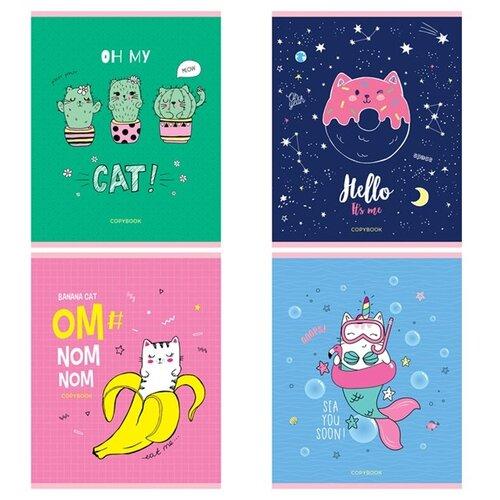 Купить ArtSpace Упаковка тетрадей Рисунки. Trendy meow, ТК48к_29665, 10 шт./4 дизайна, клетка, 48 л., Тетради
