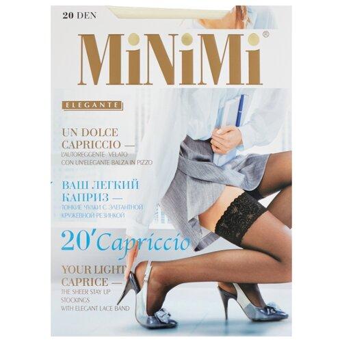 цена Чулки MiNiMi Capriccio 20 den, размер 2-S/M, avorio (бежевый) онлайн в 2017 году