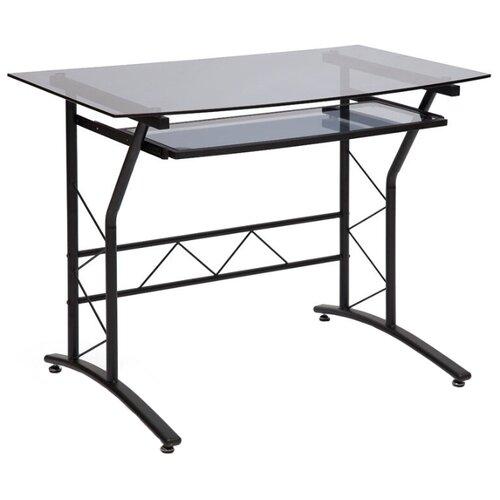 Компьютерный стол TetChair ST-F1018, 100х60 см, цвет: черный каркас/стекло тонированное