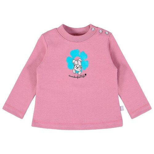 Лонгслив Мамуляндия размер 86, темно-розовый брюки для девочки мамуляндия прогулка по облакам цвет розовый 17 1412 размер 86