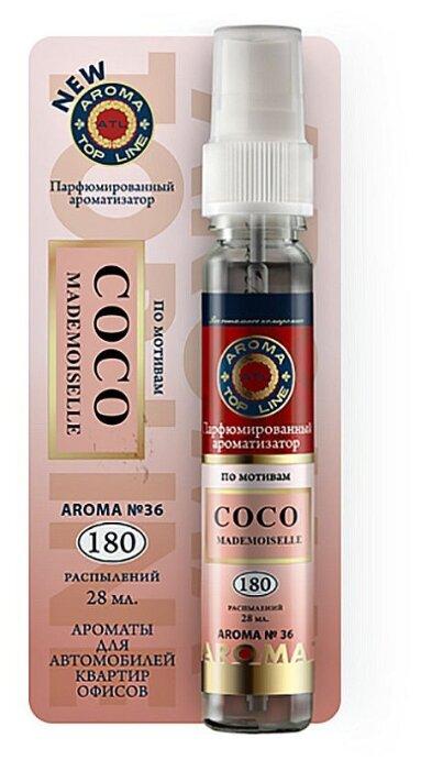 AROMA TOP LINE Ароматизатор для автомобиля Aroma №36 Chanel Coco Mademoiselle 28 мл