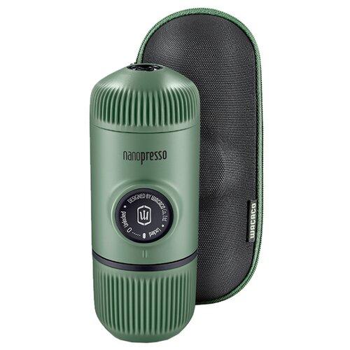 Кофеварка рожковая Wacaco Nanopresso c жёстким чехлом moss green