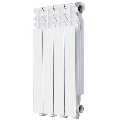 Радиатор секционный алюминий Halsen L-500/80 x4 4 секций, подключение боковое правое RAL 9016