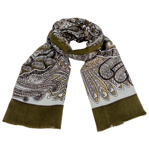 цена на Платок Vip collection SG2119/20/21/22 100% вискоза серый/темно-зеленый
