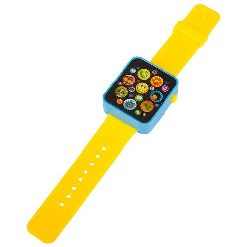 Купить Интерактивная развивающая игрушка Азбукварик Музыкальные часики желтый, Развивающие игрушки