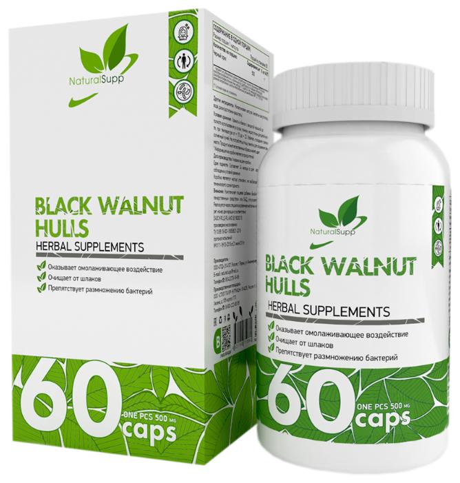 Купить Black Walnut Hulls NaturalSupp (Скорлупа черного ореха) 60 капс. по низкой цене с доставкой из Яндекс.Маркета