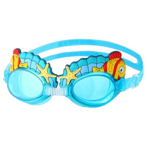 Очки для плавания Onlitop Ракушки 3130047, голубой