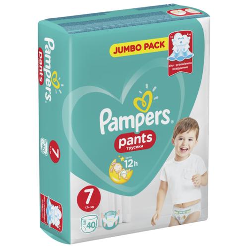 Купить Pampers трусики Pants 7 (17+ кг) 40 шт., Подгузники