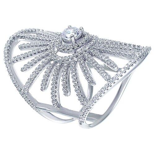 Фото - JV Серебряное кольцо с кубическим цирконием R-J0665-KO-001-WG, размер 18 jv серебряное кольцо с кубическим цирконием dm0026r ko 001 wg размер 18