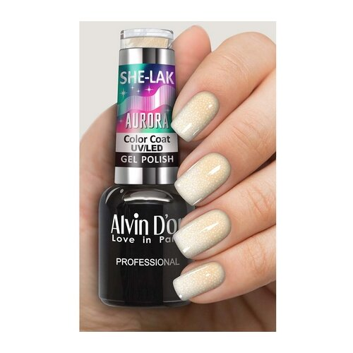 Гель-лак для ногтей Alvin D'or She-Lak Aurora, 8 мл, оттенок 7001 гель лак patrisa nail dream pink 8 мл оттенок n3 бежевый