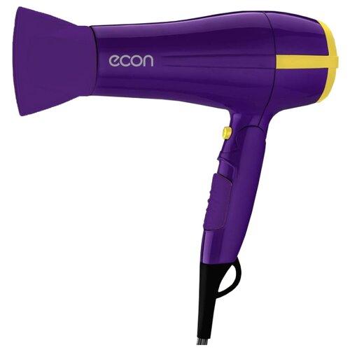 Фен ECON ECO-BH221D фиолетовый/желтый фен ga ma tempo 2200вт фиолетовый
