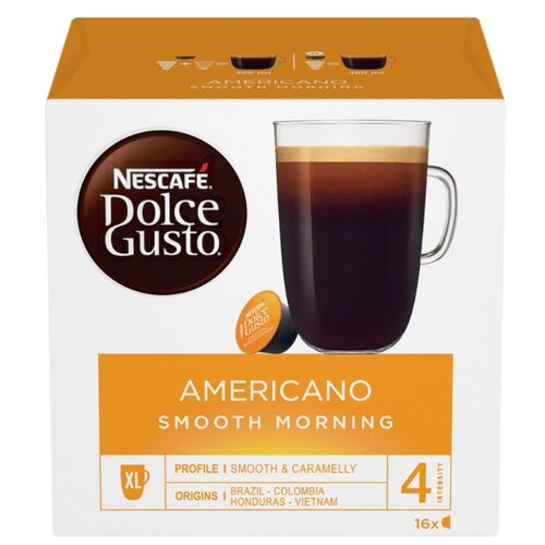 Кофе в капсулах Nescafe Dolce Gusto Americano Smooth Morning (16 шт.), без кофеина кофе в капсулах nescafe dolce gusto mexico americano 12 капс
