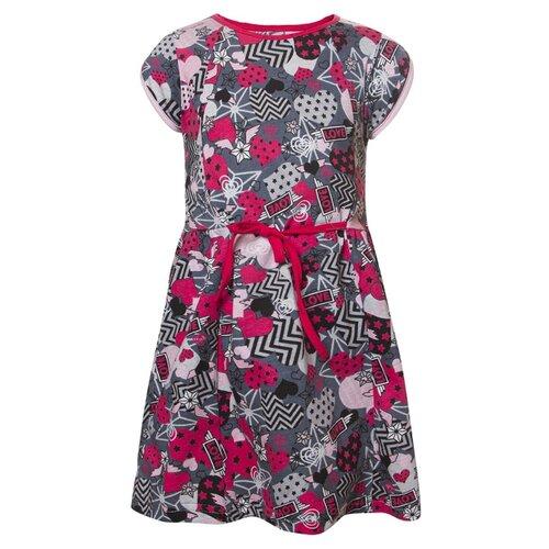 цена Платье M&D размер 104, темно-серый онлайн в 2017 году