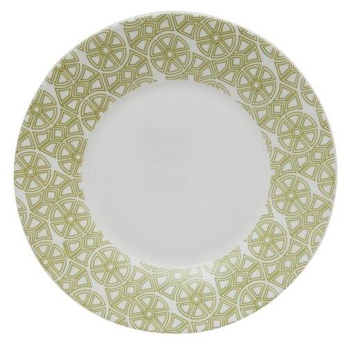 Luminarc Тарелка десертная Medicis 22 см белый/зеленый