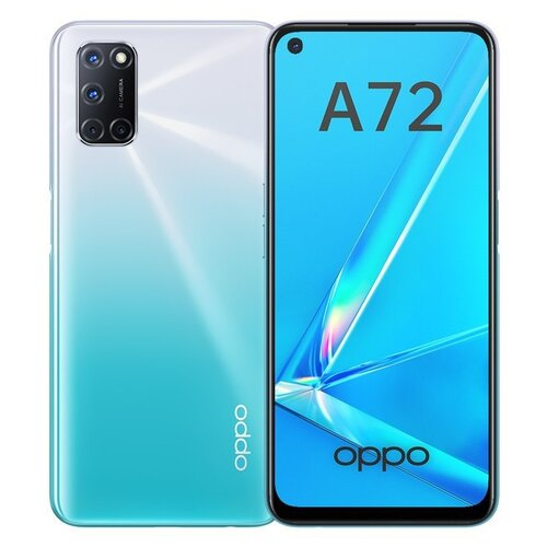 Смартфон OPPO A72 128GB сияющий белый смартфон