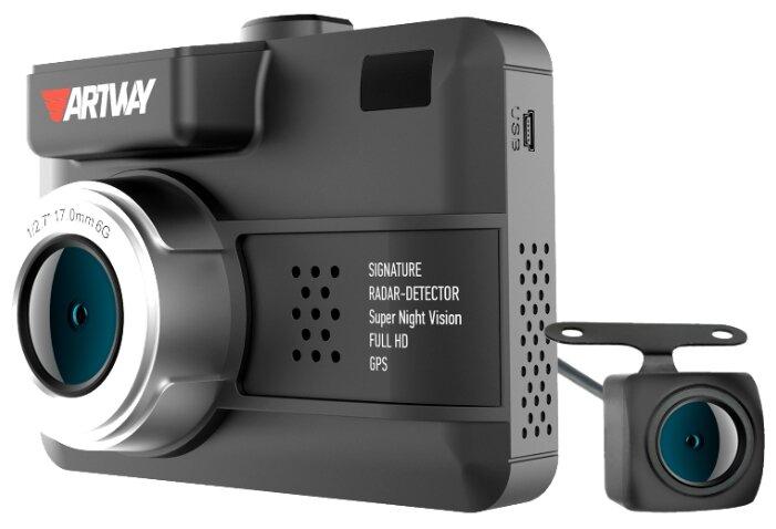 Видеорегистратор с радар-детектором Artway MD-109 Signature 5 в 1 Dual, GPS — купить по выгодной цене на Яндекс.Маркете