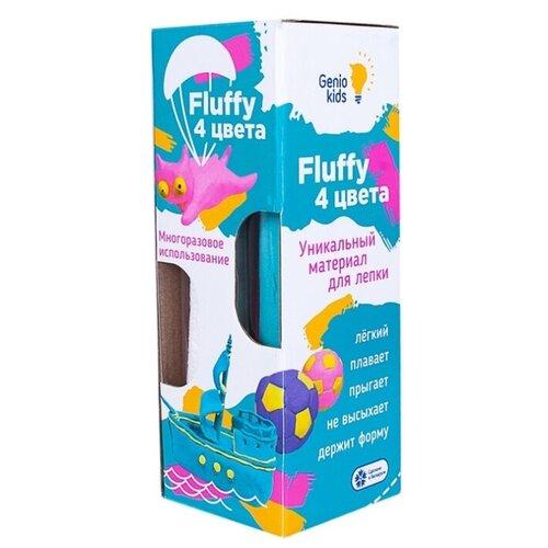 Купить Пластилин Genio Kids Набор для лепки воздушный пластилин Fluffy 4 цвета (TA1501), Пластилин и масса для лепки
