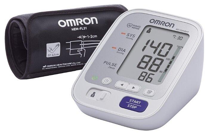 Сколько стоит Тонометр Omron M3 Comfort + адаптер + универсальная манжета (HEM-7134-ALRU)? Выгодные цены на Яндекс.Маркете